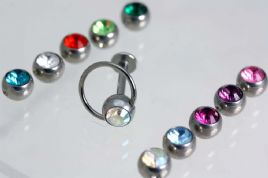 Spare Gems With Thread & Crimp